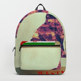 Western Sahara Map with Flag Backpack