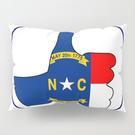 Thumbs Up North Carolina Pillow Sham