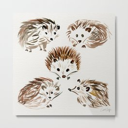 Hedgehogs Metal Print