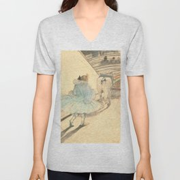 """Henri de Toulouse-Lautrec """"At the Circus: The Entry into the Ring"""" Unisex V-Neck"""