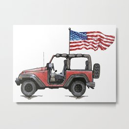 Ride With Pride Metal Print