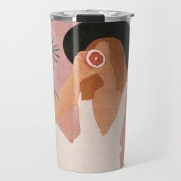 Woman with Oranges Travel Mug