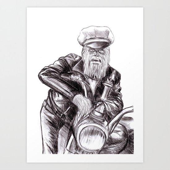 wookie wild one Art Print