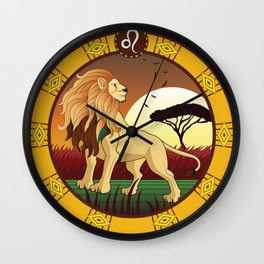 Leo Horoscope Sign Wall Clock