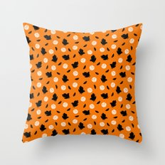 Volley Crows! Throw Pillow