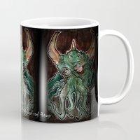 cthulhu Mugs featuring Cthulhu by byron rempel