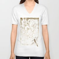 anatomy V-neck T-shirts featuring Anatomy by ViviRajski