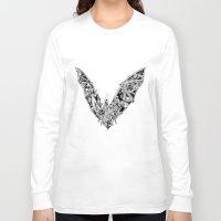 bat Long Sleeve T-shirts featuring Bat by Gwyn Hockridge