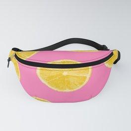 Lemons pink background Fanny Pack