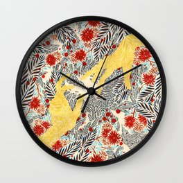 Pines and Thistles Wall Clock