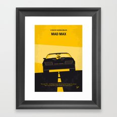 No051 My Mad Max 1 minimal movie poster Framed Art Print