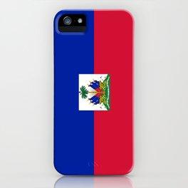 flag of haïti iPhone Case