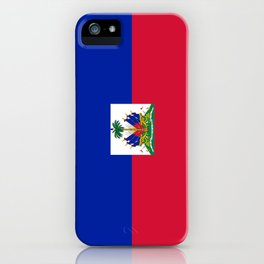 flag of haïti iPhone Case