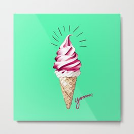 Yummy Ice Cream | Digital Art Metal Print
