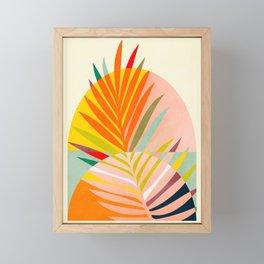 minimal leave tropical spring Framed Mini Art Print