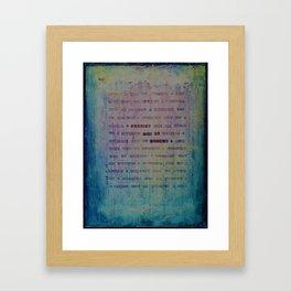 Forgive and Be Healed Framed Art Print