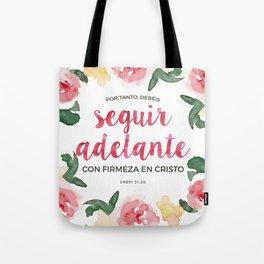Seguir Adelante {Flores en Acuarela} Tote Bag
