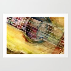 Ovation Acoustic Guitar Art Print