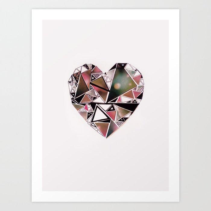 shattered heart. Art Print