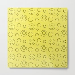 Yellow circle 5 Metal Print