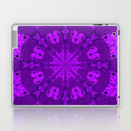 Peacock Double Kaleidoscope Purple Laptop & iPad Skin