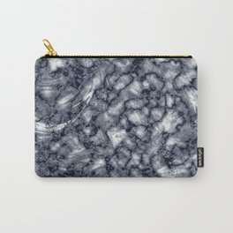 Gray & Black Marble Texture Carry-All Pouch