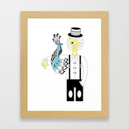 Man and the bird Framed Art Print