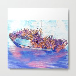 Integral Refugees  Metal Print