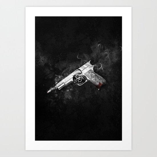 666   Crime Art Print