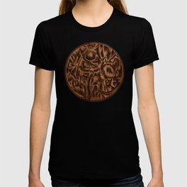 Abstract Wood Carving Pattern T-shirt