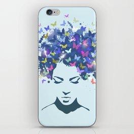 Woman Butterfly iPhone Skin