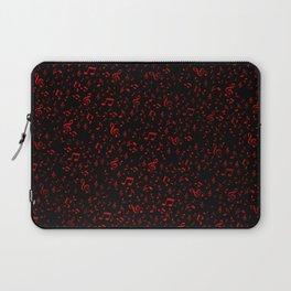 dark red music notes Laptop Sleeve