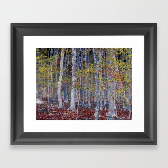 You Hiked while I Stood Still Framed Art Print