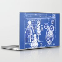 blueprint Laptop & iPad Skins featuring MY LITTLE SISTER BLUEPRINT by Sofia Youshi