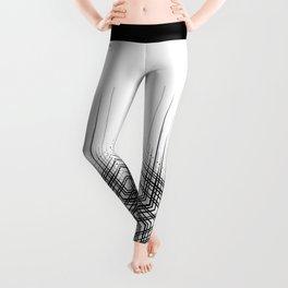 Black and white tattoo design, modern minimalist Leggings