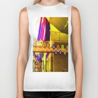 subway Biker Tanks featuring Subway NYC by Bettie Blue Design