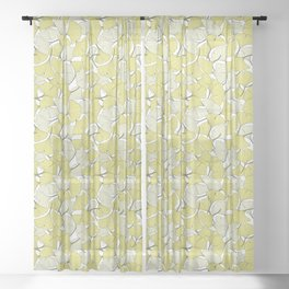 ginkgo leaves (special edition) Sheer Curtain