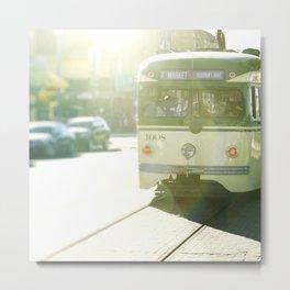 San Francisco Trolley Photograph - 1008 Metal Print