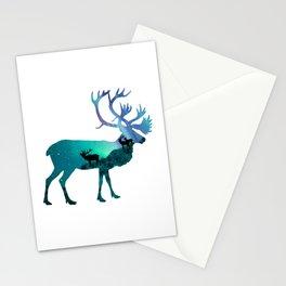 Northern Lights Elk Stationery Cards