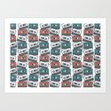 Cassette Tape Pattern by littletreedesigns