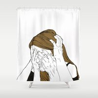 introvert Shower Curtains featuring Introvert 8 by Heidi Banford