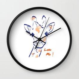Girafe-Love me Wall Clock