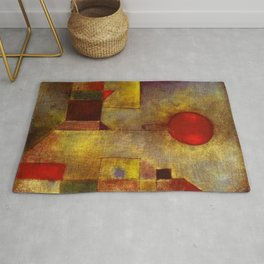 1922 Classical Masterpiece 'Red Balloon' by Paul Klee Rug