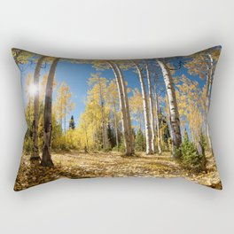 Crested Butte Colorado Fall Colors Panorama - 3 by OLena Art Rectangular Pillow