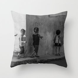 Get in line Throw Pillow