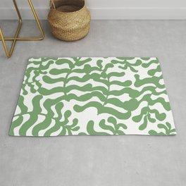 Green Botanical Pattern Rug