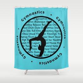 Gymnastic Circle blue Shower Curtain