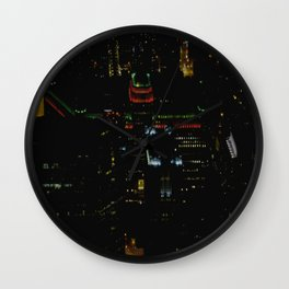 The Merchandise Mart in Red and Green (Chicago Christmas/Holiday Collection) Wall Clock