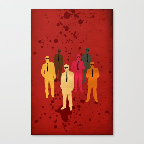 Six Angry Dogs Canvas Print