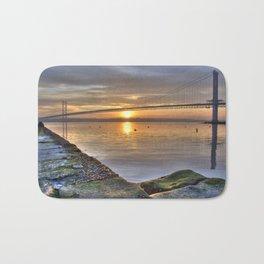 The Forth Road Bridge Sun Set Bath Mat